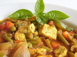 Shambhu's Creamy tofu & Mixed veg curry