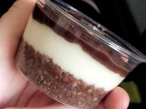Chocolate & coconut vegan cheesecake